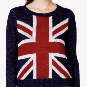 Union Jack Sweater by Rebellious One. EUC Medium